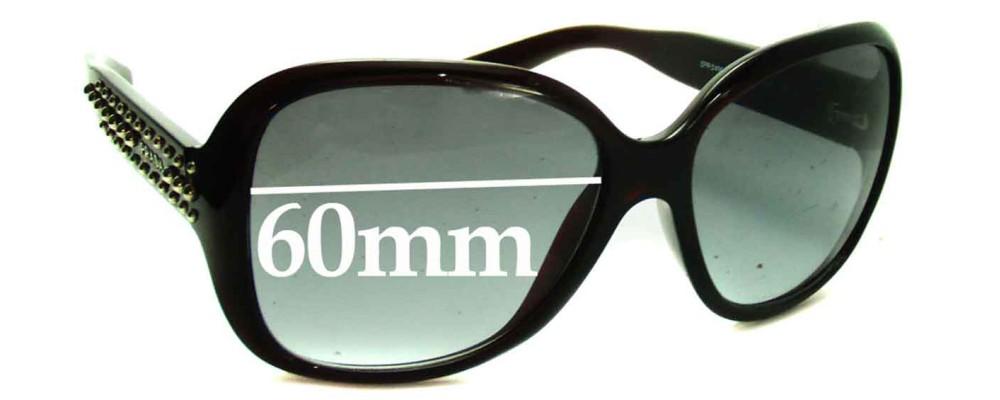 Prada SPR04M Replacement Sunglass Lenses - 60mm wide lens