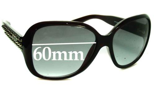 Prada SPR04M New Sunglass Lenses - 60mm wide lens
