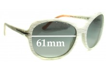 Prada SPR04N Replacement Sunglass Lenses - 61mm wide lens