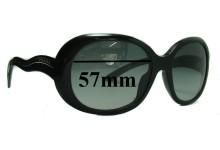 Prada SPR08L Replacement Sunglass Lenses - 57mm wide lens