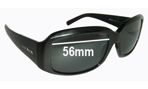 Prada SPR12H Replacement Sunglass Lenses - 56mm wide
