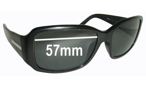 Prada SPR14H Replacement Sunglass Lenses - 57mm Wide