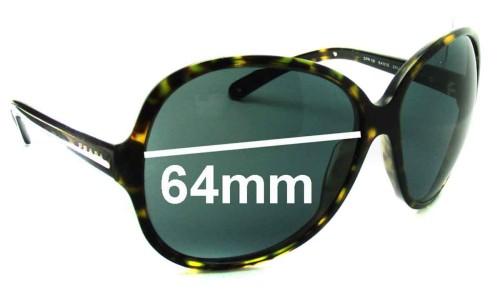 Prada SPR19I Replacement Sunglass Lenses - 64mm lens