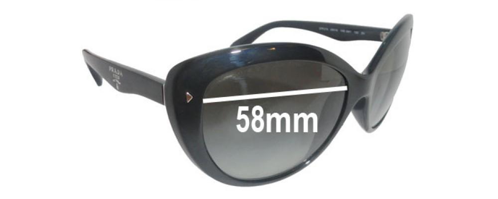 Prada SPR21N Replacement Sunglass Lenses - 58mm wide