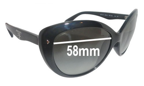 Prada SPR21N Replacement Sunglass Lenses - 58mm wide