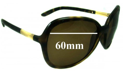 Prada SPR25L New Sunglass Lenses - 60mm wide lens