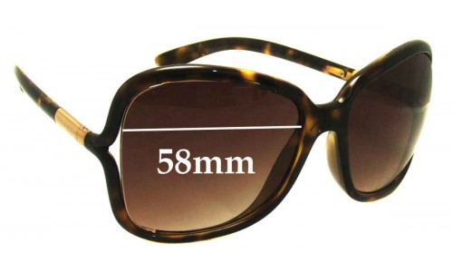 Prada SPR28L Replacement Sunglass Lenses - 58mm Wide