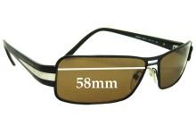 Prada SPR50H Replacement Sunglass Lenses - 58mm wide