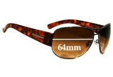 Prada SPR52G Replacement Sunglass Lenses - 64mm wide - 48mm tall