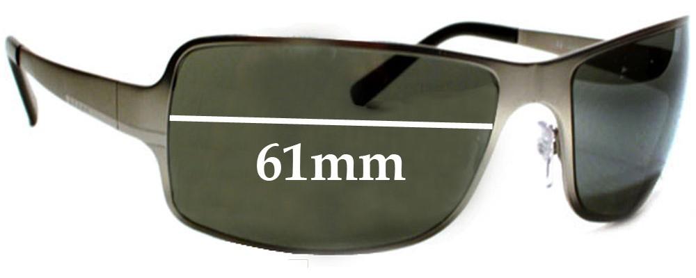 Prada Replacement Sunglass Lenses SPR60F - 61mm Wide