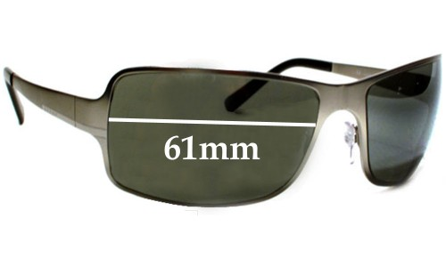 Prada Replacement Sunglass Lenses SPR60F - 61mm Wide