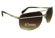 Prada SPR60M Replacement Sunglass Lenses - 63mm lens