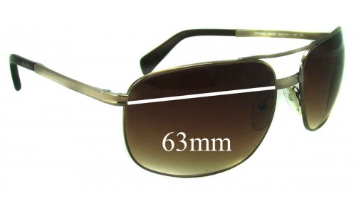Prada SPR60M Replacement Sunglass Lenses - 63mm lens