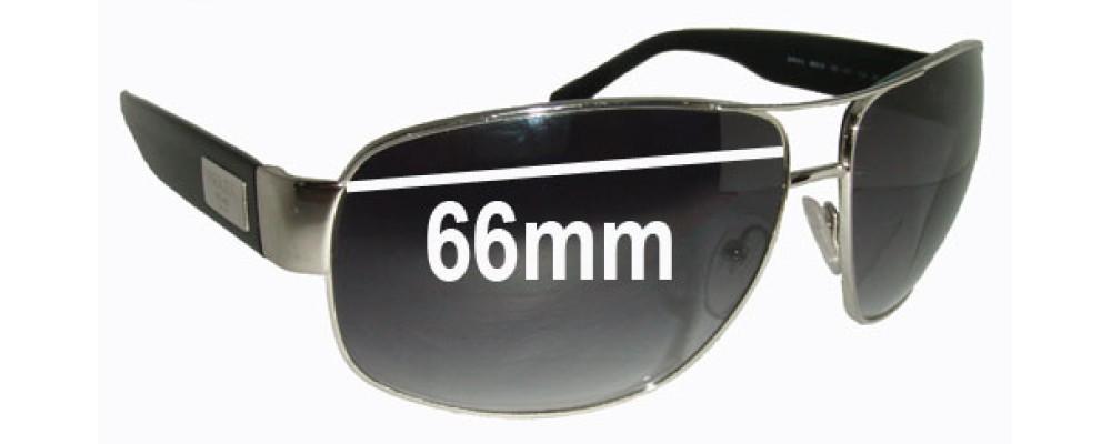 Prada SPR61L Replacement Sunglass Lenses - 66mm Wide