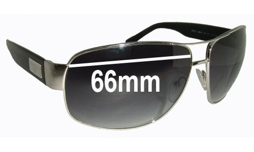 Prada SPR61L Replacement Sunglass Lenses - 66mm Wide