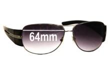 Prada SPR69H Replacement Sunglass Lenses - 64mm lens