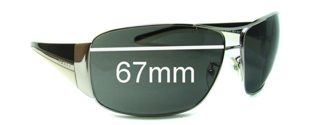 Prada SPR74G Replacement Sunglass Lenses - 67mm Wide