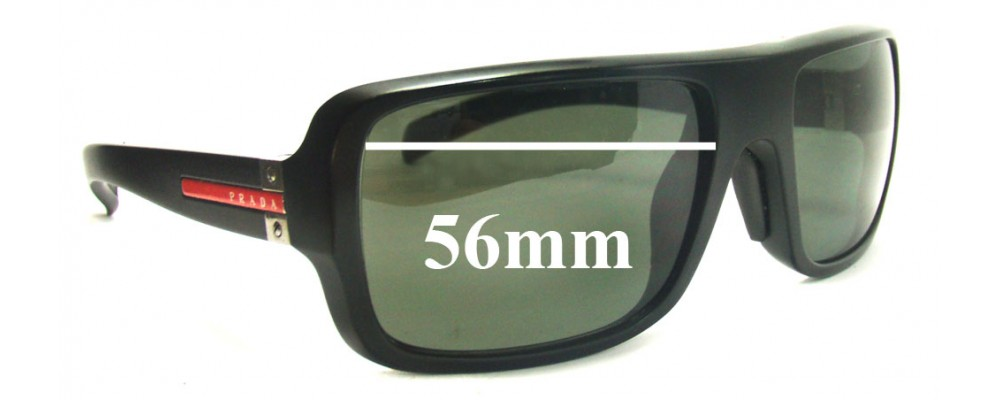 9bb16d1caa Sunglass Fix Sunglass Replacement Lenses for Prada SPS01 56MM wide