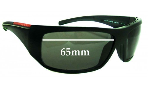 Prada SPS01L Replacement Sunglass Lenses - 65mm wide