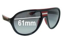 Prada SPS01M Replacement Sunglass Lenses - 61mm wide