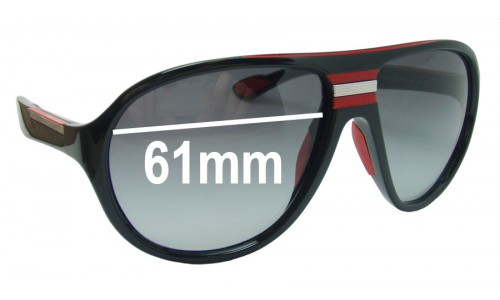 Prada SPS01M Replacement Sunglass Lenses - 61mm wide