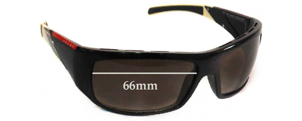 Prada SPS06H Replacement Sunglass Lenses - 66mm wide