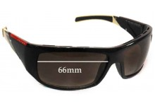 Prada SPS06H Replacement Sunglass Lenses - 66mm wide