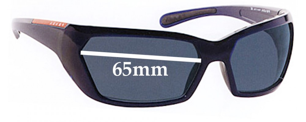 Prada SPS07G Replacement Sunglass Lenses - 65MM across