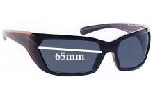 Prada SPS07G Replacement Sunglass Lenses - 65MM across