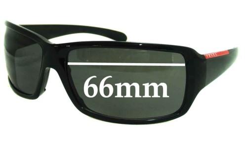 Prada SPS08G Replacement Sunglass Lenses - 66mm lens