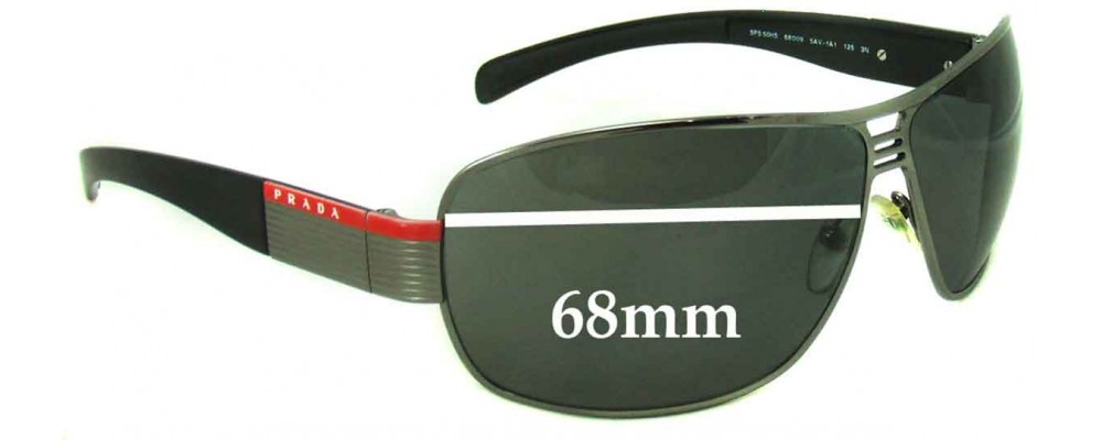 Prada SPS50H & SPS50HS Replacement Sunglass Lenses - 68mm Wide