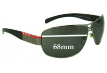 Prada SPS50H & SPS50HS Replacement Sunglass Lenses - 68mm Wide