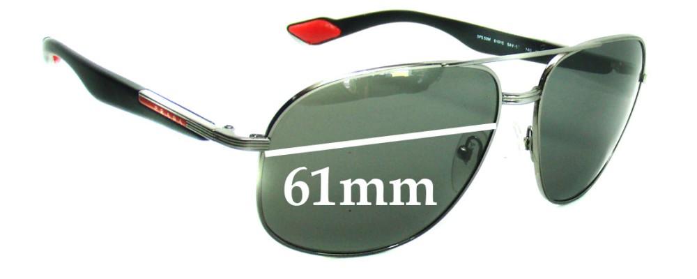 Prada SPS50M Replacement Sunglass Lenses - 61mm wide