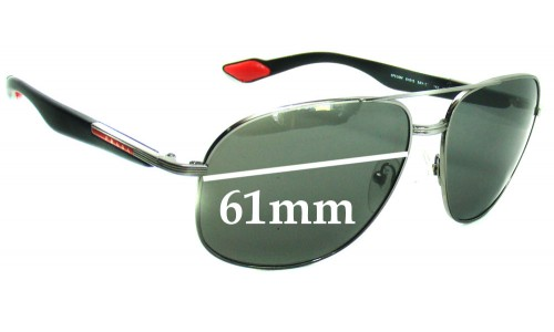 Prada SPS50M Replacement Sunglass Lenses - 61mm wide