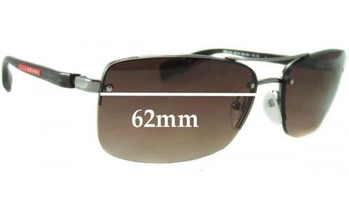 Prada SPS 50N Replacement Sunglass Lenses - 62mm wide