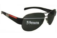 Prada SPS51H Replacement Sunglass Lenses 59MM across