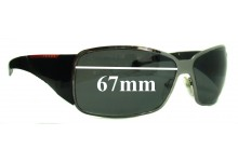 Prada SPS55H Replacement Sunglass Lenses - 67mm wide
