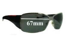 Prada SPS55H Replacement Sunglass Lenses - 67mm wide