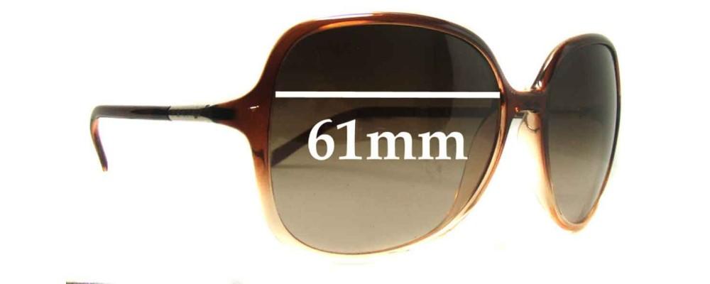 Prada SPR18M Replacement Sunglass Lenses - 61mm wide lens