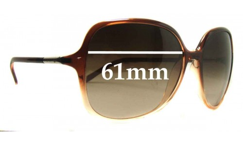 Prada SPR18M Replacement Sunglass Lenses - 61mm wide lens