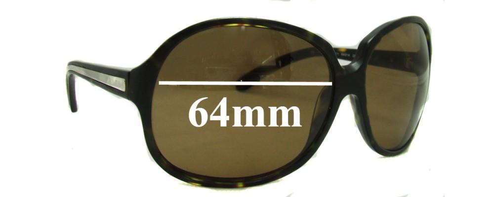 Prada SPR21I Replacement Sunglass Lenses - 64mm lens