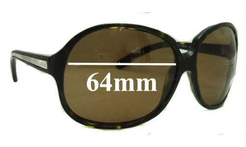 Prada SPR21I Replacement Sunglass Lenses - 64mm lens