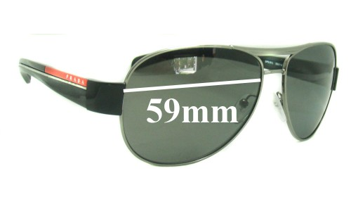 Prada SPS51L Replacement Sunglass Lenses 59MM across