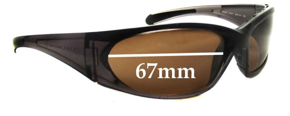 Prada SPS01F Replacement Sunglass Lenses - 67mm wide