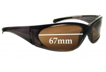 Prada SPS01F Replacement Sunglass Lenses - 67mm wide