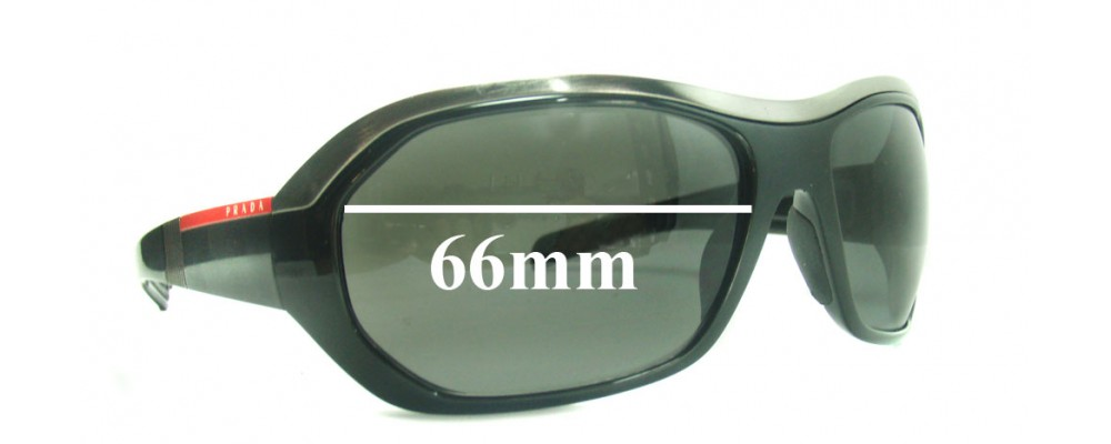 Prada SPS01H Replacement Sunglass Lenses - 66mm wide
