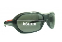 Prada SPS01H Replacement Sunglass Lenses - 66mm wide
