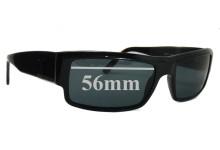 Prada SPR07F Replacement Sunglass Lenses - 56mm wide lens