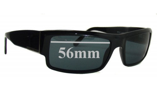 Prada SPR07F Replacement Sunglass Lenses - 56mm wide lens