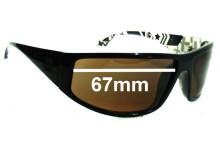 Quiksilver AKKA DAKKA Replacement Sunglass Lenses - 67mm Wide